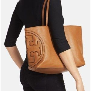 Tory Burch All T East West Tote Bag in Bark Brown
